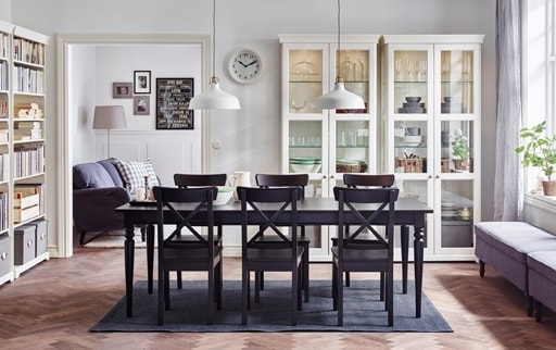 Black Extendable Dining Tables And Chairs With Most Popular Dining Room Furniture & Ideas (View 11 of 20)