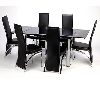Black Extending Dining Tables Intended For Popular Extending Dining Table – Emtab Interiors (View 14 of 20)
