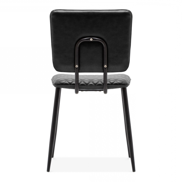 Black Faux Leather Elgin Dining Chair (View 2 of 20)