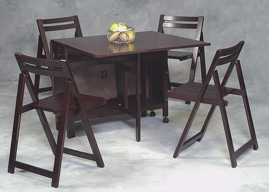 Featured Photo of Black Folding Dining Tables And Chairs