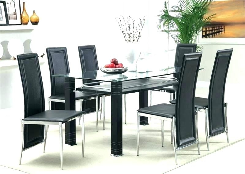 Black Glass Dining Tables And 4 Chairs With Regard To Trendy Cheap Round Dining Table Dining Tables Outstanding Modern Round (View 14 of 20)
