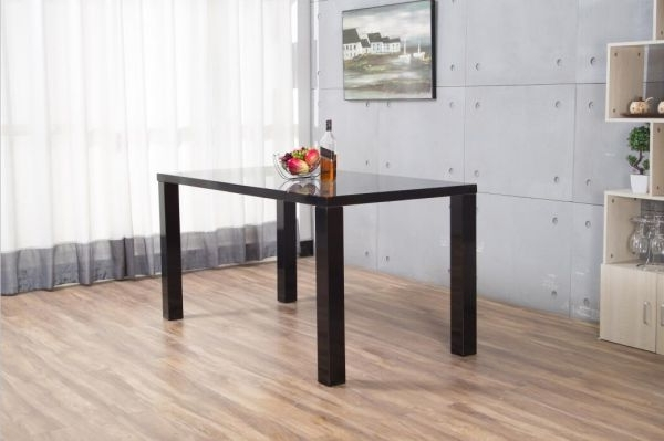 Black Gloss Dining Tables For Famous Pivero Black High Gloss Dining Table (View 4 of 20)