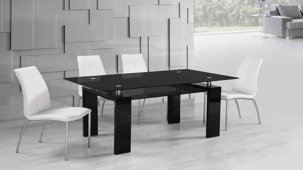 Black High Gloss Dining Chairs For Newest Black Glass High Gloss Dining Table And 6 White Dining Chairs (View 20 of 20)