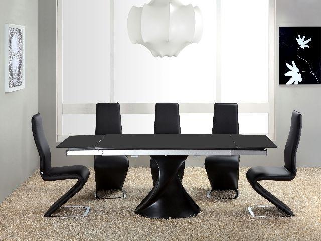 Black High Gloss Dining Tables Pertaining To Popular Twirl Black Matt Extending Dining Table Matt Black Extending Dining (View 13 of 20)