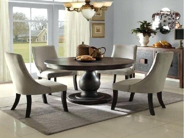Black Round Dining Table Tables Inspiring Set Room With Chairs For 4 Pertaining To Most Recent Black Circular Dining Tables (View 2 of 20)