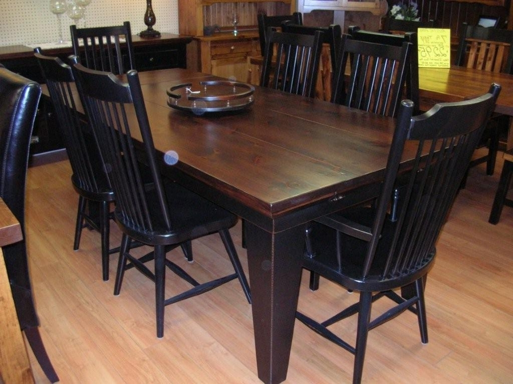 Black Wood Dining Tables Sets In Preferred Rustic Dining Table, Rustic Dining Room Tables, Rustic Wood Dining (View 3 of 20)