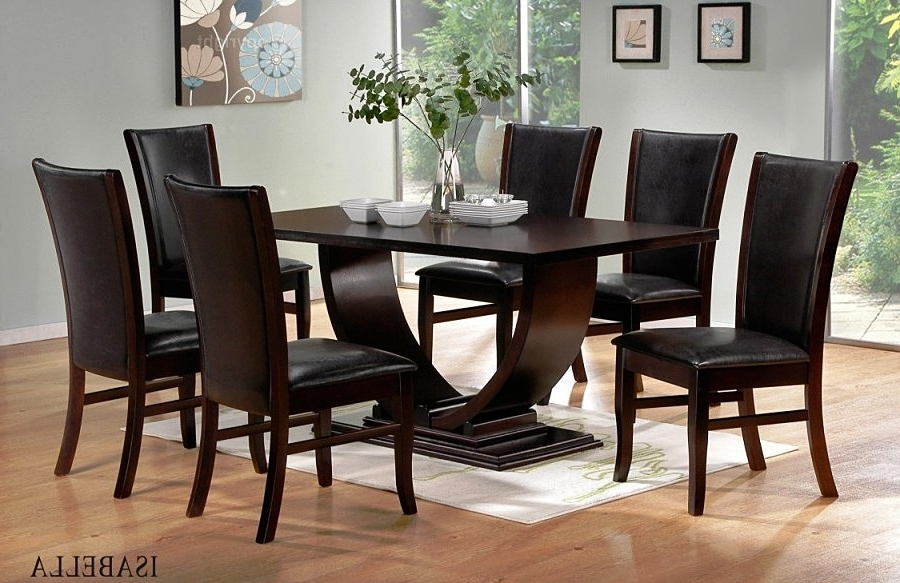 Black Wood Dining Tables Sets Within Well Known (View 11 of 20)