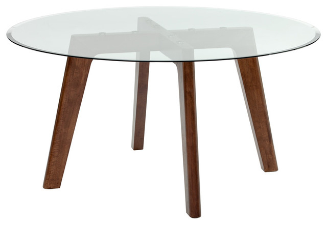 """Blaze Round Dining Table, 59"""" – Midcentury – Dining Tables – Pertaining To Recent Portland 78 Inch Dining Tables (Gallery 16 of 20)"""