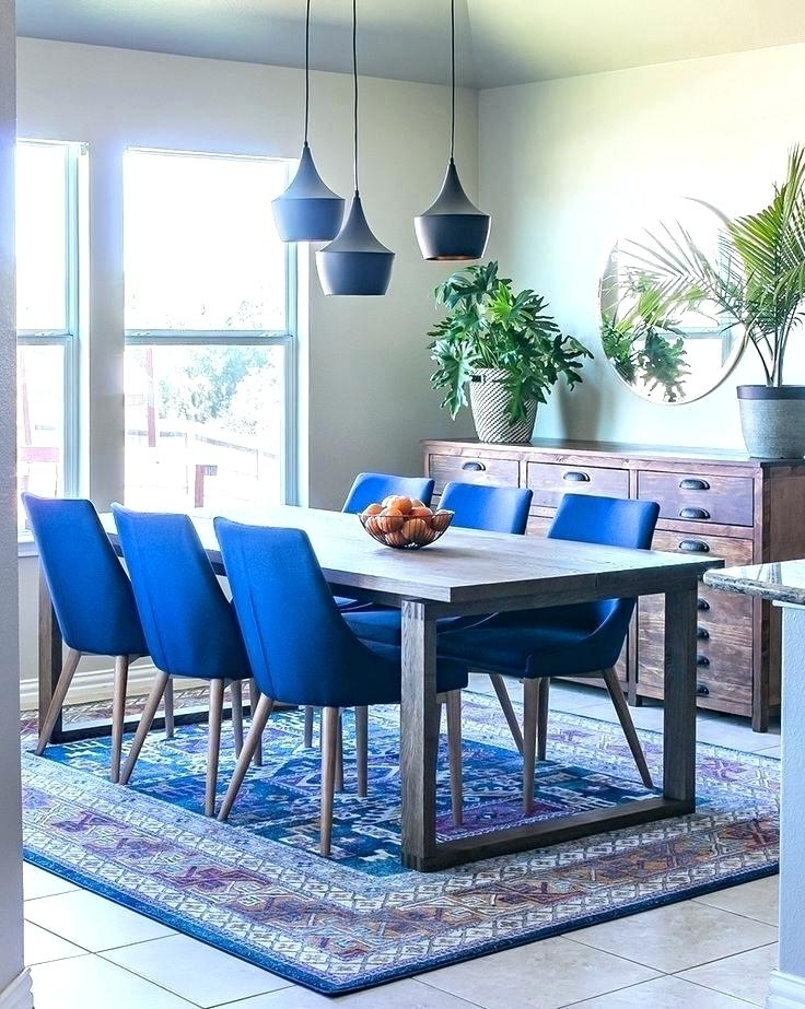 Blue Dining Tables Regarding Newest Navy Blue Round Dining Table – Pablosbarbers (Gallery 16 of 20)