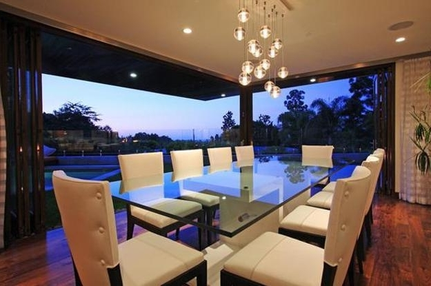 Blue Glass Dining Tables With Most Up To Date Glass Top Tables Magnifying Beautiful Dining Room Design (View 9 of 20)
