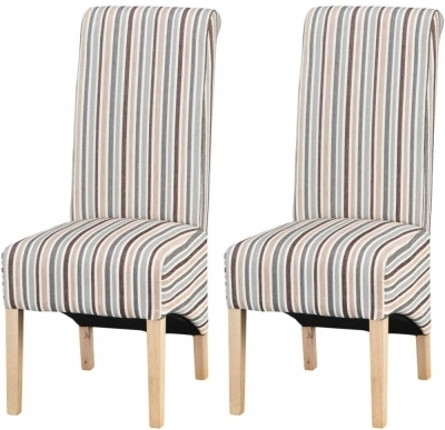 Blue Stripe Dining Chairs In 2017 Buy Design 05 – Duck Egg Blue Stripe Dining Chair (pair) Online – Cfs Uk (View 20 of 20)