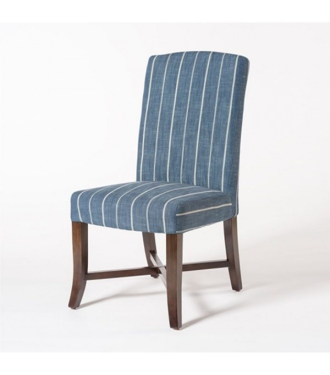 Featured Photo of Blue Stripe Dining Chairs