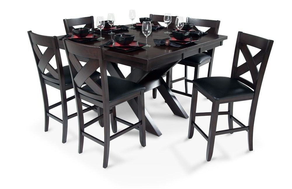 Bob's In Laurent 7 Piece Rectangle Dining Sets With Wood And Host Chairs (View 16 of 20)