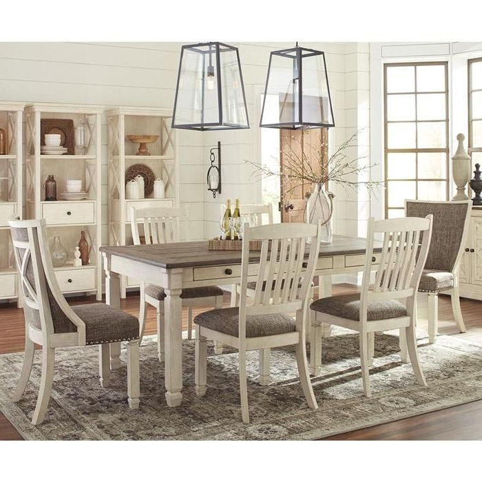 Bolanburg 7 Piece Dining Set With Host Chairs In Antique White And Throughout Famous Market Host Chairs (View 2 of 20)