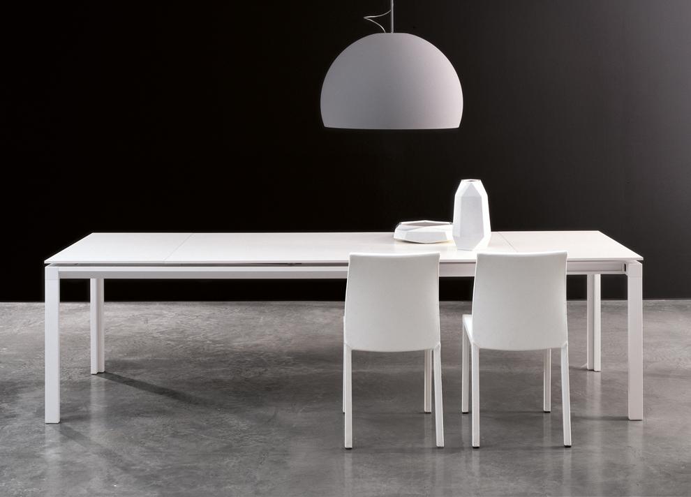 Bonaldo Chat Double Extending Dining Table – Modern Extending Tables Regarding Recent White Extending Dining Tables (View 12 of 20)