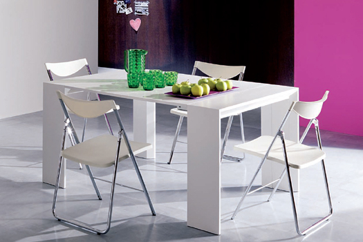 Bonbon Within Dining Tables With Fold Away Chairs (Gallery 8 of 20)