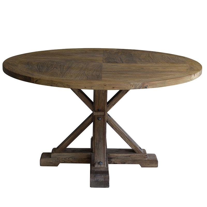 Bordeaux Dining Tables In 2017 Bordeaux Reclaimed Elm Round Dining Table (View 7 of 20)