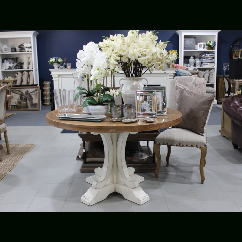 Bordeaux Dining Tables Inside Recent Bordeaux Round 120Cm Dining Table – Luxe Home Interiors (View 9 of 20)