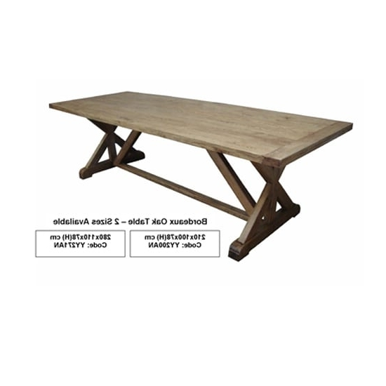 Bordeaux Oak Dining Table – Insideout Inside Most Recently Released Bordeaux Dining Tables (View 9 of 20)