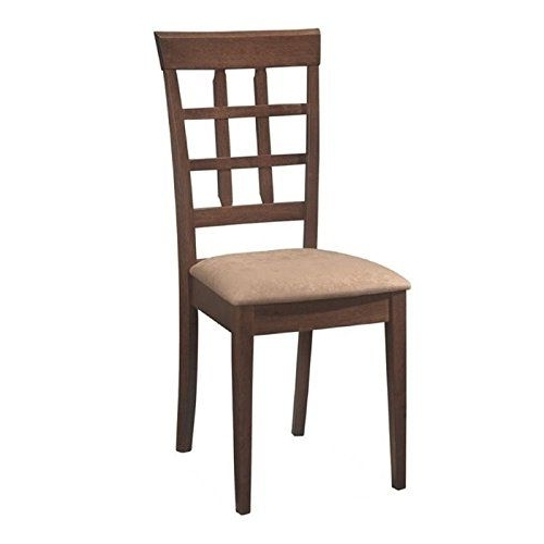 Bowery Hill Wheat Back Dining Chair With Fabric Seat In Walnut Pertaining To Most Recently Released Bowery Ii Side Chairs (View 4 of 20)