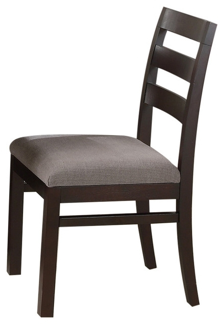 Bowery Ii Side Chairs With Regard To Newest Coaster Side Chair, Cappuccino Finish, Set Of 2,  (View 8 of 20)