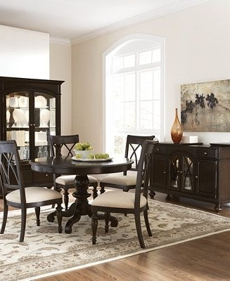Bradford Round Dining Room Furniture – Furniture – Macy's With Trendy Bradford Dining Tables (Gallery 1 of 20)