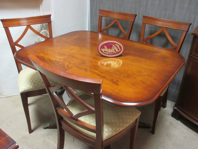 Bradley Furniture – Mahogany Dining Table & 4 Chairs – Clearance With Newest Mahogany Dining Tables And 4 Chairs (View 6 of 20)