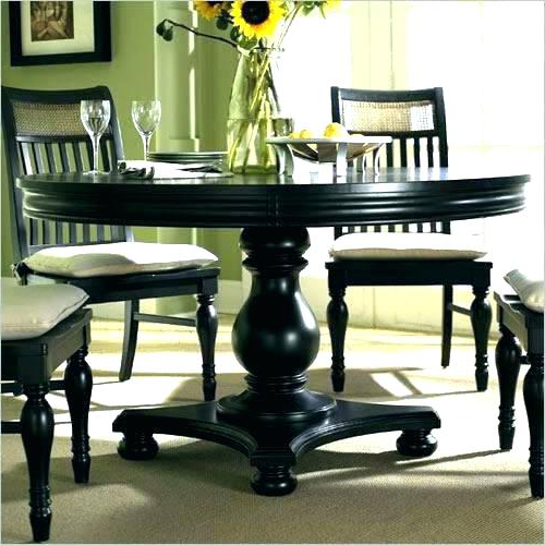 Breathtaking Black Round Dining Table And Chairs Black Kitchen Table With Regard To Famous Dark Round Dining Tables (View 3 of 20)