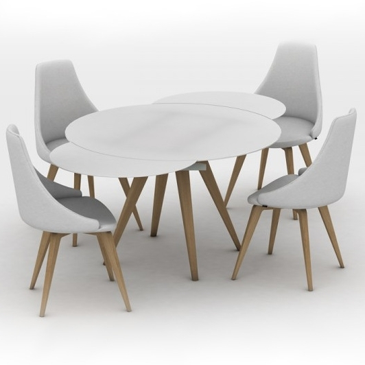 Brembo Round Glass Extending Dining Table With Widely Used Circular Extending Dining Tables And Chairs (View 2 of 20)