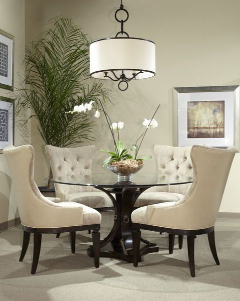 British Colonial Style Within Lassen Round Dining Tables (View 1 of 20)