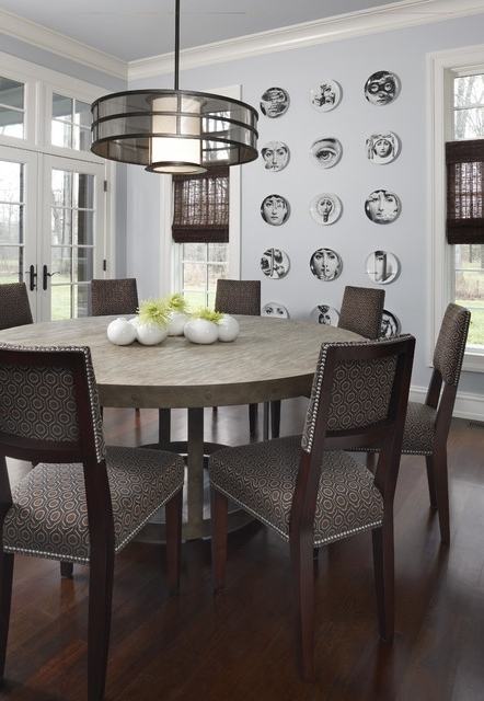 Brookdale Nook – Contemporary – Dining Room – Detroit  Amw With Well Known Chapleau Ii 9 Piece Extension Dining Tables With Side Chairs (Gallery 12 of 20)