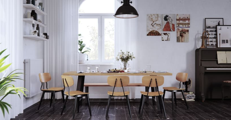 Brosa Intended For Helms 6 Piece Rectangle Dining Sets With Side Chairs (View 3 of 20)