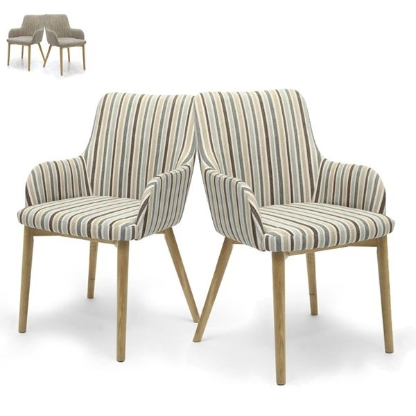 Brown Tweed Or Blue Stripe With Regard To Famous Blue Stripe Dining Chairs (View 4 of 20)