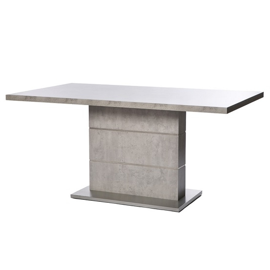 Brushed Steel Dining Tables In Newest Presto Dining Table In Concrete Effect And Brushed Steel (Gallery 10 of 20)