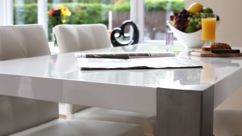 Brushed Steel Legs 6 Seater For Brushed Metal Dining Tables (View 10 of 20)
