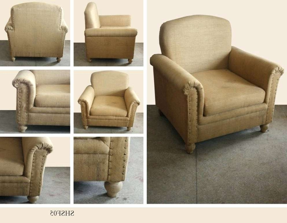 Burlap Furniture Burlap Coffee Bag Furniture – Wiseme Throughout Most Current Magnolia Home Emery Ivory Burlap Side Chairs (View 19 of 20)