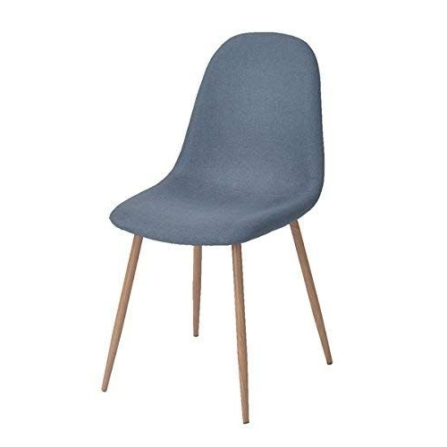 Burton Metal Side Chairs With Wooden Seat In 2017 Set Of 4 Eames Style Side Chair Metal Legs Fabric Cushion Seat And (View 1 of 20)