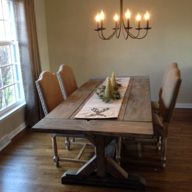 Buy A Hand Crafted Fancy X Farmhouse Table With Extensions Pertaining To Current Rustic Dining Tables (View 2 of 20)