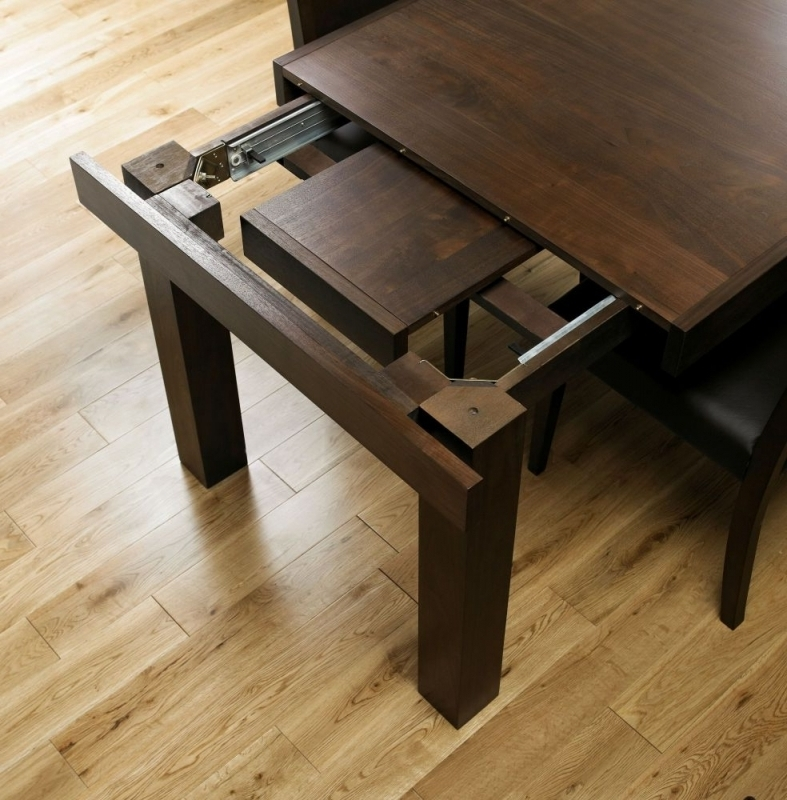 Buy Bentley Designs Akita Walnut Rectangular Extending Dining Table Inside Best And Newest 4 Seater Extendable Dining Tables (View 9 of 20)