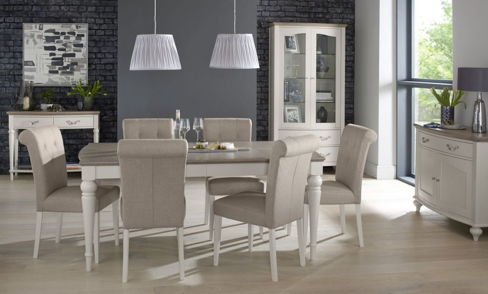 Buy Bentley Designs Montreux Grey Washed Oak And Soft Grey With Regard To Popular Dining Tables With Grey Chairs (View 4 of 20)
