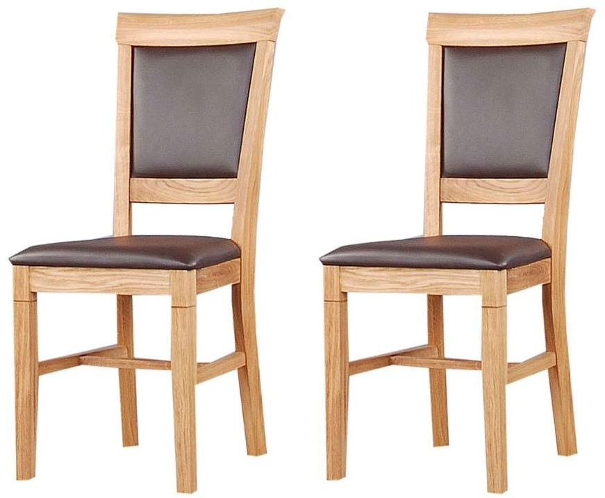 Buy Clemence Richard Oak Leather Seat Dining Chair (Pair) 020 Online Regarding Most Recent Oak Leather Dining Chairs (Gallery 4 of 20)