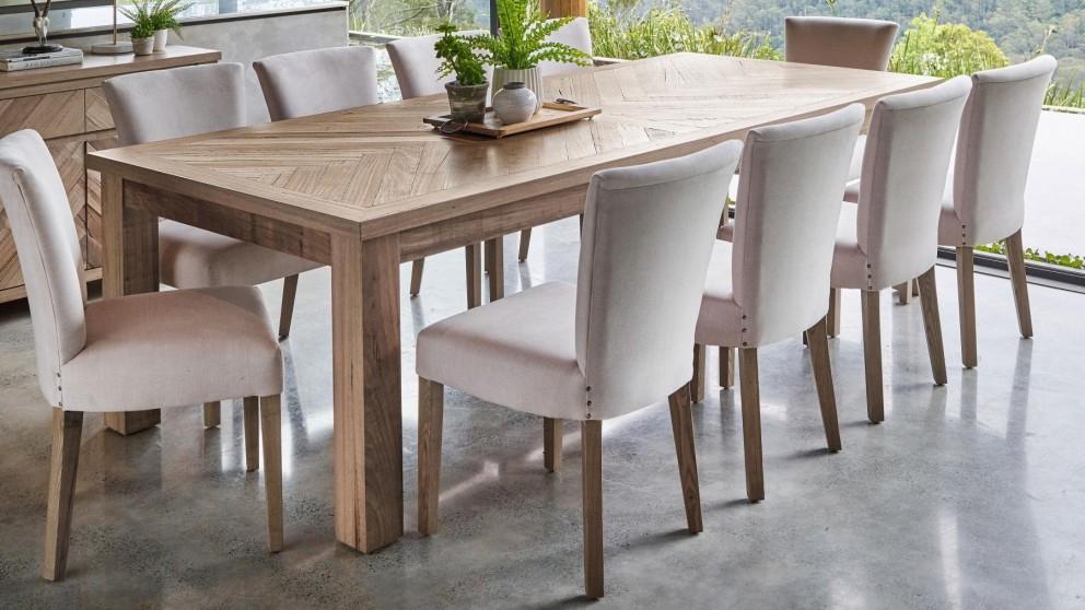 Buy Herringbone 270cm Rectangular Dining Table (View 6 of 20)