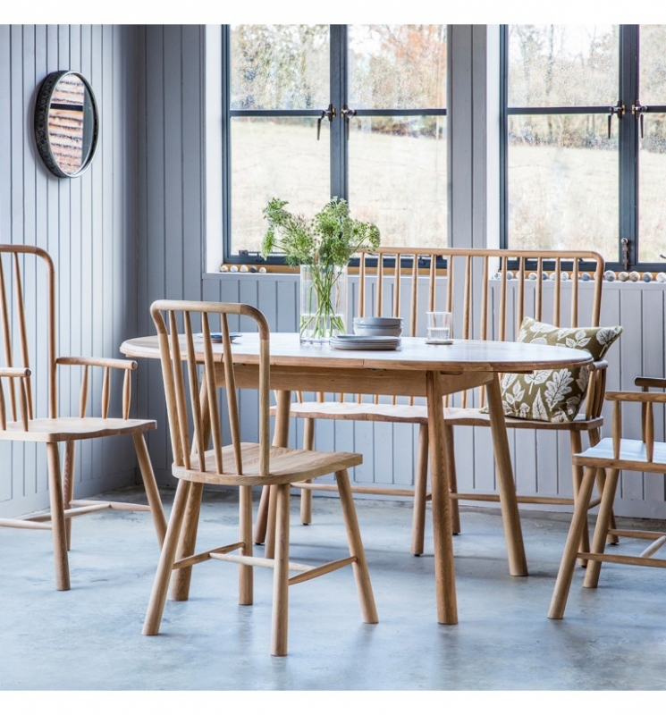 Buy Hudson Living Wycombe Oak Dining Set – 110Cm 154Cm Round Inside Fashionable Round Extending Oak Dining Tables And Chairs (View 1 of 20)