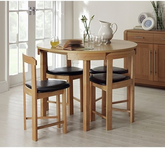 Buy Hygena Alena Solid Oak Circular Dining Table & 4 Chairs At Argos With Newest Circular Dining Tables For  (View 3 of 20)
