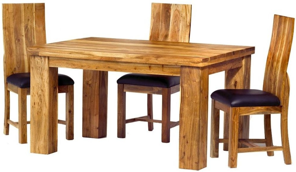 Buy Indian Hub Metro Acacia Dining Set With 4 Chairs – 140cm Online Throughout Current Indian Dining Tables And Chairs (View 16 of 20)