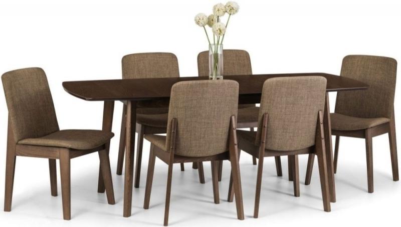Buy Julian Bowen Kensington Walnut Rectangular Extending Dining Set Regarding Well Liked Walnut Dining Tables And 6 Chairs (View 5 of 20)