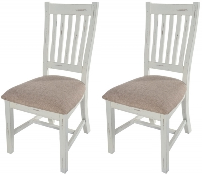 Buy Kent White Painted Distressed Reclaimed Wood Slatted Back Dining Within Newest Kent Dining Chairs (View 2 of 20)