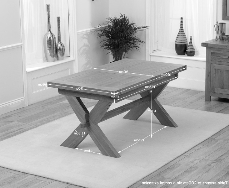 Buy Mark Harris Avignon Solid Oak Rectangular Extending Dining Table With Most Current Solid Oak Dining Tables (View 9 of 20)