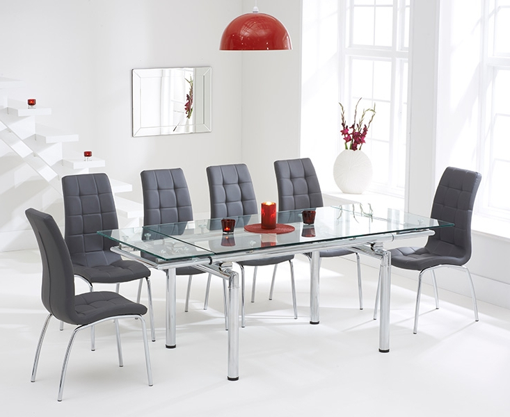 Buy Mark Harris California Grey Faux Leather Dining Chair (pair Within Famous Grey Leather Dining Chairs (View 15 of 20)