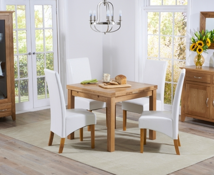 Buy Mark Harris Cambridge Solid Oak Dining Set – 90Cm Square With Well Known Cambridge Dining Tables (Gallery 10 of 20)